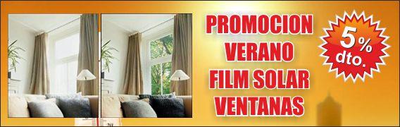 Promoción film protector UV