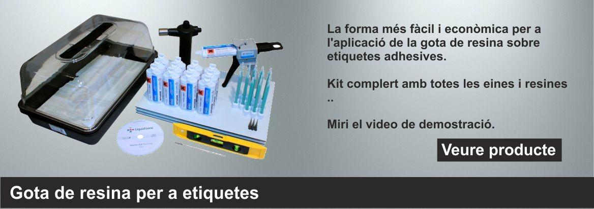 Kit per la aplicació de gota de resina.