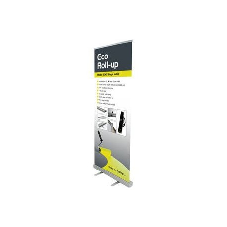 Expositor Roll Up ECOCLIP de 85x200 cm.
