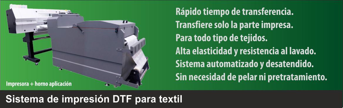 Sistema de transferencia textil directo a film (DTF)