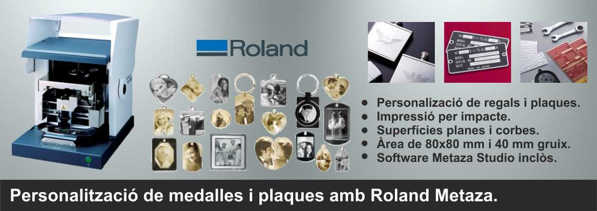 Personalització de medalles amb Roland Metaza