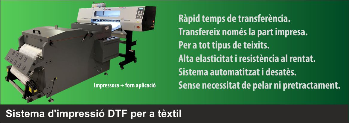 Sistema de transferencia textil directe a film (DTF)